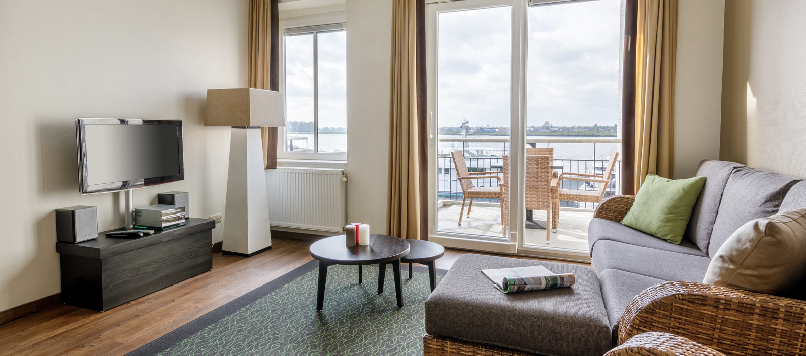 Completely restyled Waterfront Suites