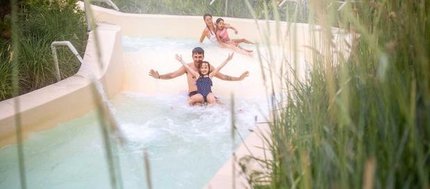 herfst zwemmen aqua mundo. najaar bij center parcs