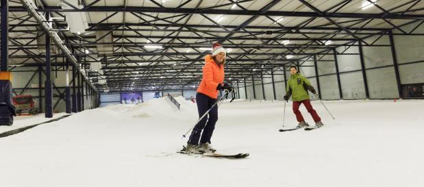 Indoor skiing in the Netherlands, at De Kempervennen