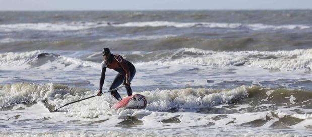 Surfen im Meer in Holland
