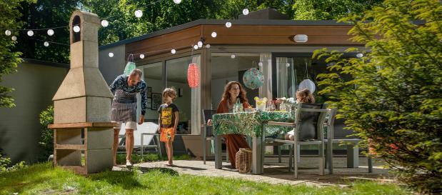 Met hemelvaart in een cottage in het Center Parcs-park De Eemhof