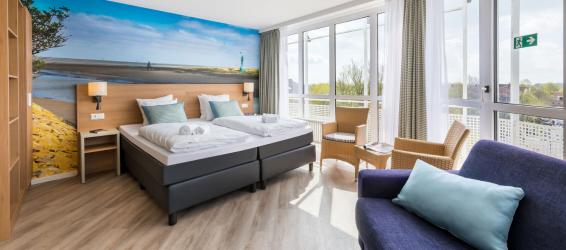 Erneuerte Ferienhäuser Park NordseeküsteErneuerte Hotelzimmer