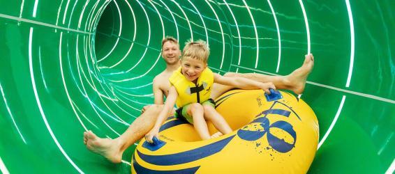 Neue Wasserrutsche Aqua Racer Bispinger Heide