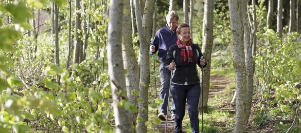 urlaub mit grosseltern nordic walking