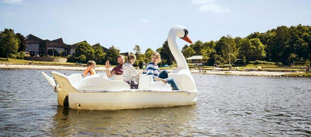 Tretboot-Fahren am Bostalsee