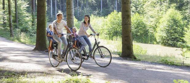 Radfahren im Frühling in Holland