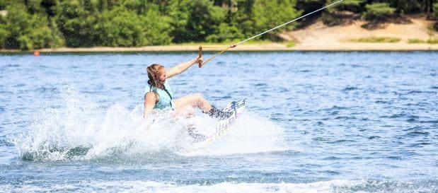 ski nautique avec les ados