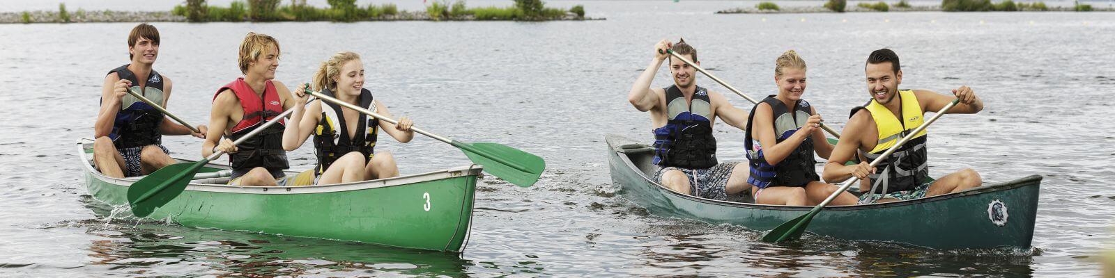 Groepsvakantie kano