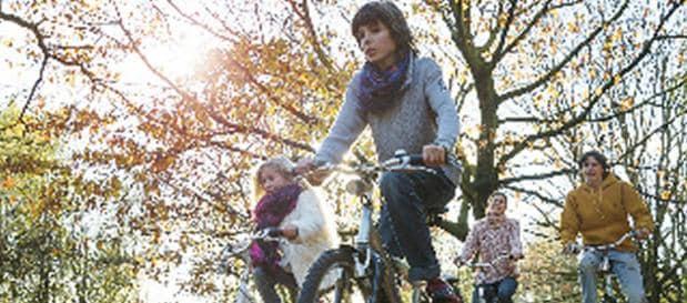 Samen een fietstocht door het bos in Limburg